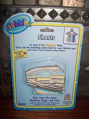 WEBKINZ~NEW~STRIPED SHORTS~ With Sealed CODE inside