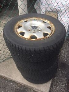 4 sets of winter tires with rim.