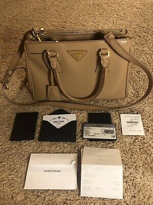 100% Authentic Prada Saffiano Small Tote Bag Beige (Prada Colors)
