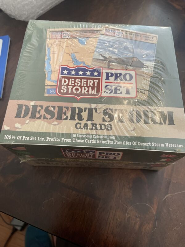 Vintage Sealed Box DESSERT STORM TRADING CARDS Collectible Collectors PRO Set