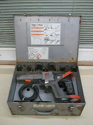 Ridgid Ct400 12 - 2 Copper Propress Crimping Tool Set W 6 Jaws Case Used