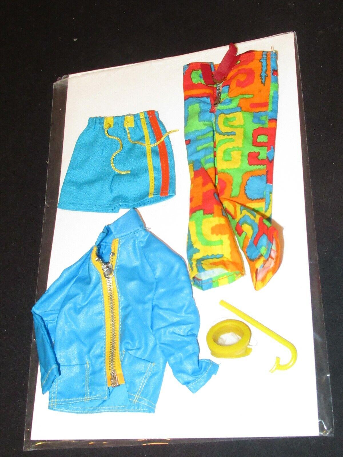 Vintage Barbie Ken Fashion Mod Shore Lines 1435 Groovy Pants Shorts Jacket mb10 - $29.99