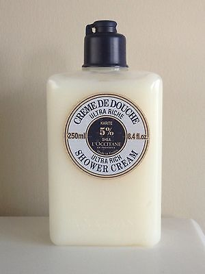 L'OCCITANE Ultra Rich Shower Cream with 5% Shea ~ 8.4 fl. oz. / 250 ml, used for sale  Angus