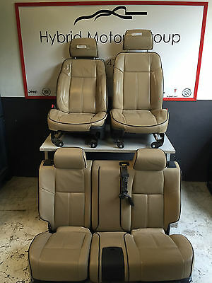 SEATS HUMMER H3 ALL LEATHER CREAM 2006 > 2010 - HUMMER H3 ORIGINAL LEATHER SEATS