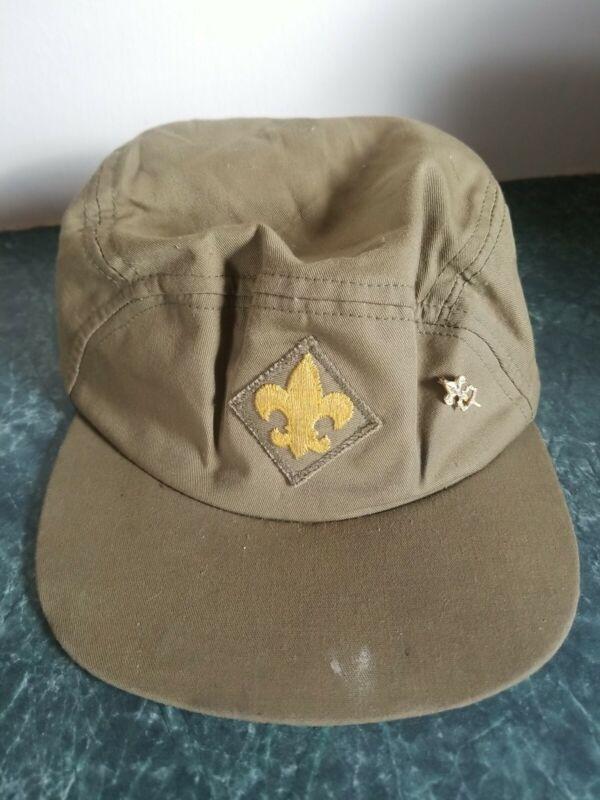 Vintage Boy Scout Hat Official Headwear Adj. Green 6 5/8 6 3 /4 6 7/8 Rare