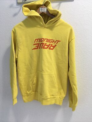 midnight studios rave hoodie yellow sz 1