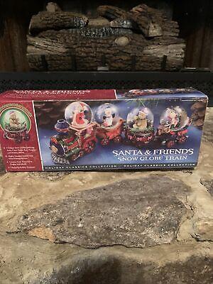 Santa & Friends Snow Globe Train Christmas Holiday Classics Collection Set of 4