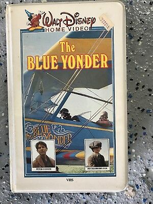 Walt Disney home video the Blue Yonder vhs old white clam shell case very rare