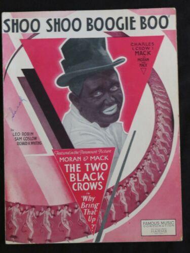 "Vintage Black Americana Sheet Music ""Shoo Shoo Boogie Boo"" 1929 Charles Mack"