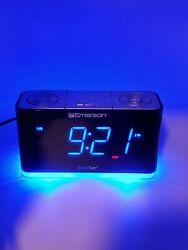 Emerson CKS1507 Smart Set Radio Alarm Clock w/ bluetooth speaker and USB port!