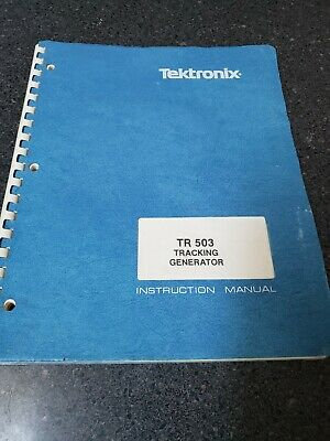 Tektronix Tr 503 Tracking Generator Manual For 492 Spectrum Analyzer