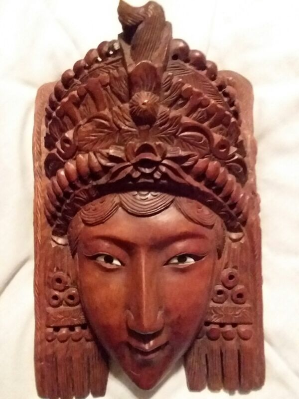 Republic of china CHINESE TIBETAN TIBET WOOD CARVING MASK