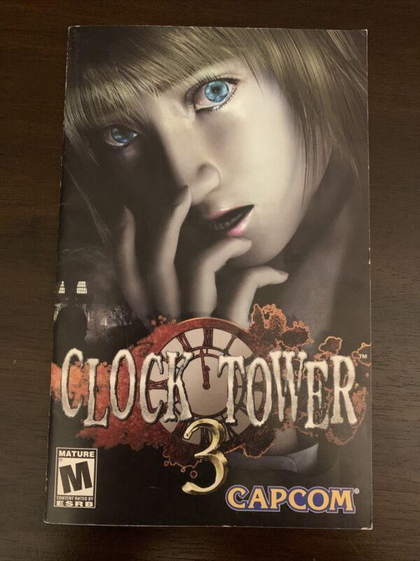 Clock Tower 3 PS2 Manual Only- No Disc Or Case