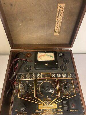 Vintage Tube Tester Dayrad Radio Corp Series 20-c-22-c