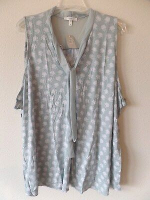 Maurices 4 Womens Plus 4 4X Rayon Spandex Sleeveless Blouse Tie Front Top New