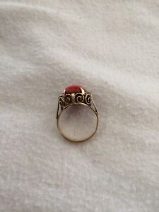 Antique Coral Ring
