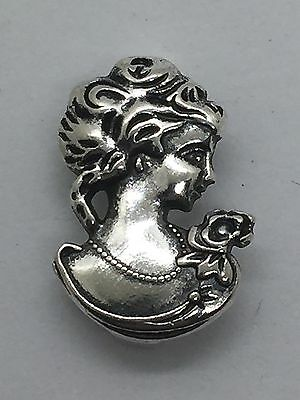Female Profile Antique Style 10mm Slide Keep Bracelet Charms