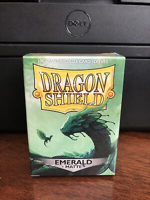 Dragon Shield Sleeves Pack of 100 Standard Size Card Sleeves Emerald Matte