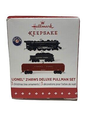 NEW Hallmark Lionel 2148WS Deluxe Pullman Set Mini Train Christmas Tree Ornament