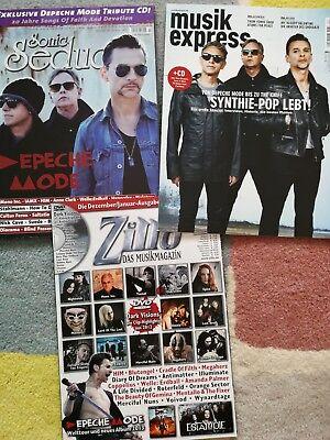 DEPECHE MODE COVER DAVE GAHAN GORE INTERNATIONAL MUSIC MAGS X 3 2013 RARE