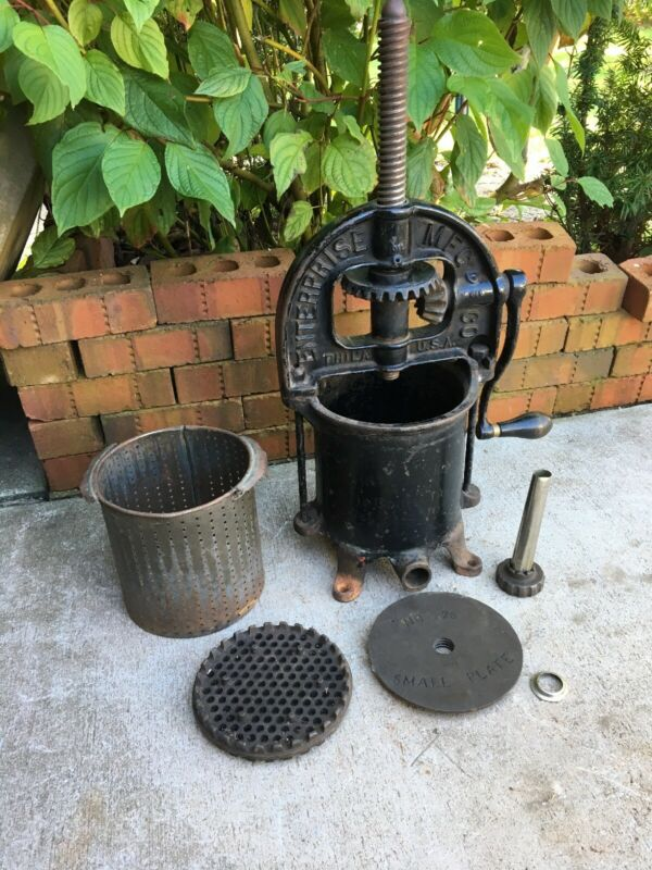 Antique Enterprise Philadelphia Pennsylvania Sausage Press 4 Quart Cast Iron