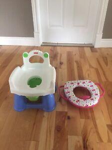 Pot d entrainement et siège a toilette