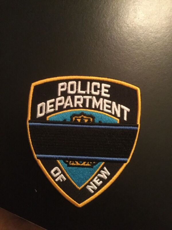 """NY NYC """"RARE"""" Police Blue """"Highly Collectible"""" iron on Patch **LAST QUANTITY"""