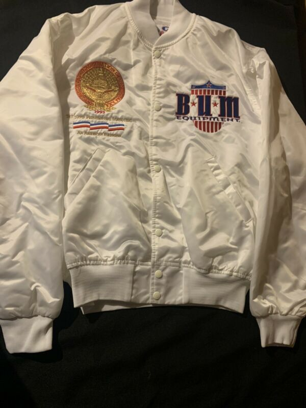 Presidential Inauguration Vintage Jacket Bill Clinton L Large Bum Equipment 1993