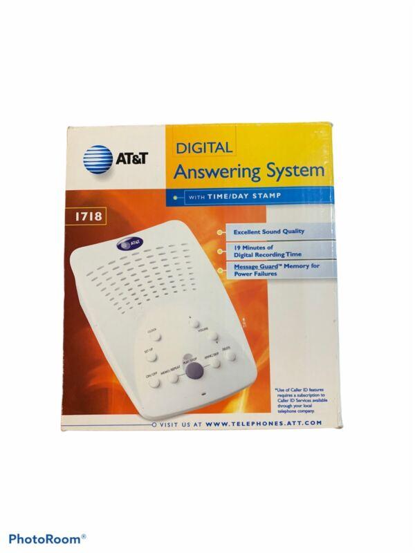 AT&T Digital Answering Machine BRAND NEW Model #1718 Windchill White Open Box
