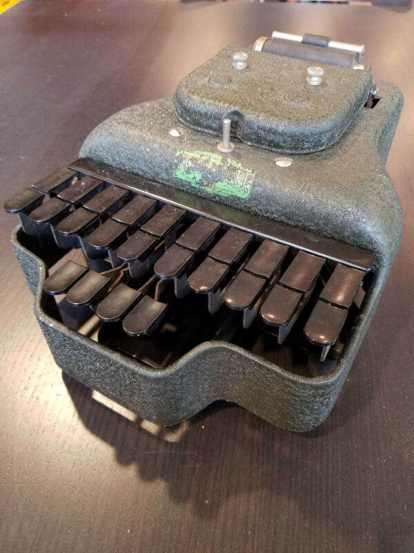 Vintage 1940s Stenotype steno-graph shorthand writing machine