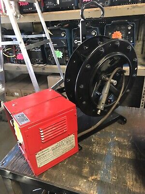 Lincoln Ln-7 Wire Feeder On Wire Stand With 60 Spoolholder Setup 4 Inner Shield