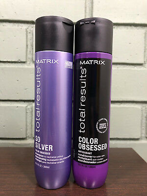 Matrix Total Results So Silver Color Obsessed Shampoo   Conditioner 10 1Oz Duo