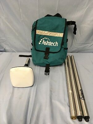 Ashtech MGL-3 Surveying GPS Antenna W/ Mast and Backpack