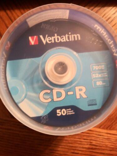 Verbation 50 Pack CD-R 52X Disc Spindle Digital Vinyl 700mb media 94587 New