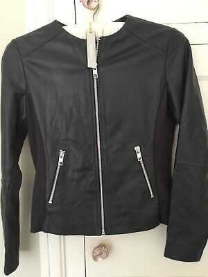 Super Cool JAEGER Jaegar Petrol Blue 100% Leather Jacket BNWT £299.99 SOLD OUT