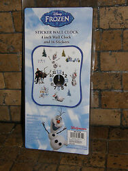 Disney's Frozen Olaf Sticker Wall Clock BIG or small You Design NIB  Licensed