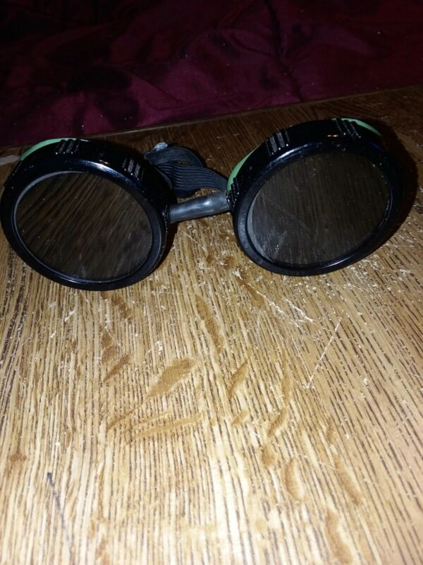 Vintage Morse Morsafe Goggles Safety Glasses Old Rockabilly Welding Steampunk