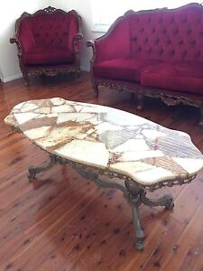 Marble and bronze coffee table Prairiewood Fairfield Area Preview