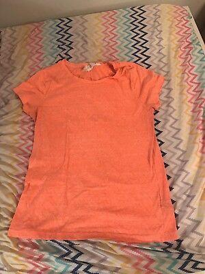 Women's H&M L.O.G.G. Orange Short Sleeve Cap Tshirt Size Small