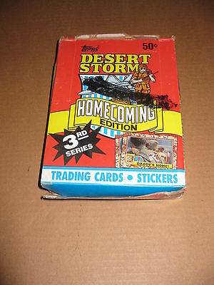 Desert Storm Homecoming 3rd Series Trading Card Box
