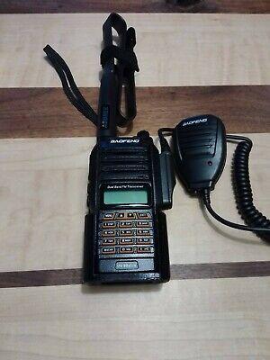 Baofeng uv-9r plus Belt Holster 3D Printed Orange Keypad IP67 Portable HAM Radio