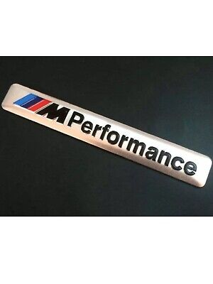 BMW M PERFORMANCE INTERIOR STICKER/BADGE/DECAL SILVER UK STOCK FREE  DELIVERY