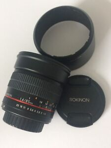 Rokinon 85mm f1.4 pour Sony A