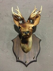 Deer Head Plastic Key Holder Ornament Collectible Sunbury Hume Area Preview