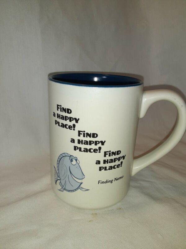 Finding Nemo Dory Find A Happy Place Coffee Mug Hallmark Disney Cup Tea