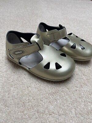 Bobux Baby Girls Sandals, Gold, Size 3.5