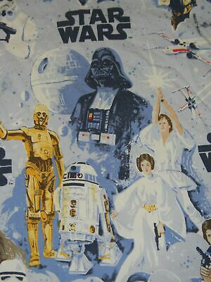 STAR WARS full flat bed sheet POTTERY BARN KIDS fabric A New Hope 2013