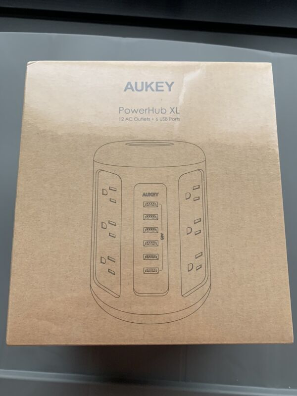 AUKEY Power Strip 12 Outlets & 6 USB Ports & 5ft Power Cord PA-S14 PowerHub XL