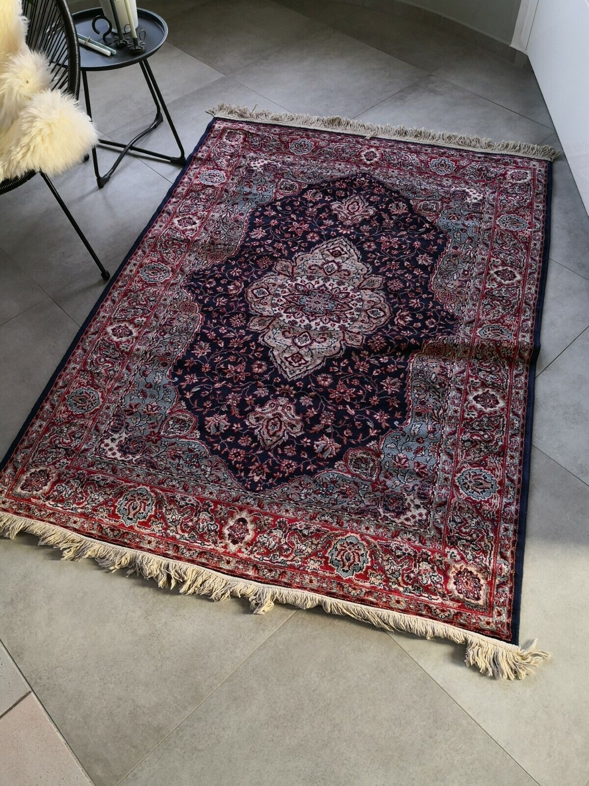 Perser Orient Teppich Silk Look Madras 125x170cm ungebraucht versandkostenfrei