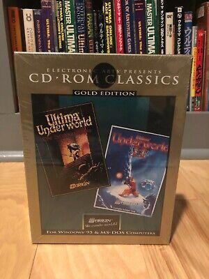 Ultima Underworld I & II - Big Box PC Sealed EA Electronic Arts Gold Edition CD